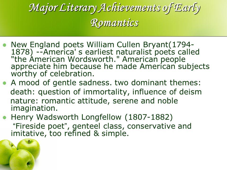 Major Literary Achievements of Early Romantics