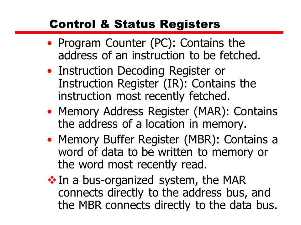 Control & Status Registers