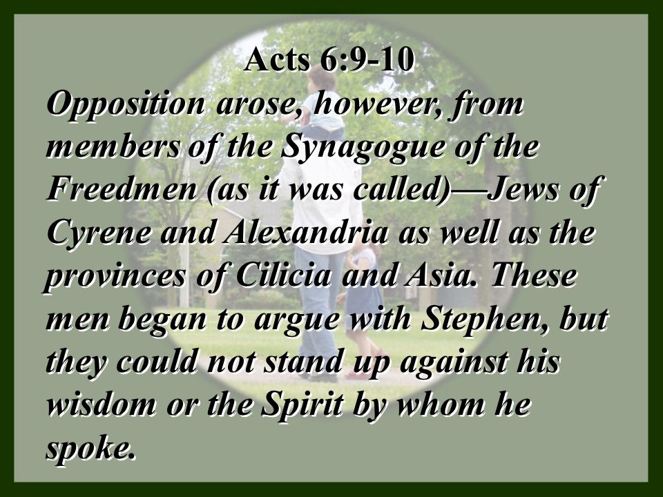 Acts 6:9-10
