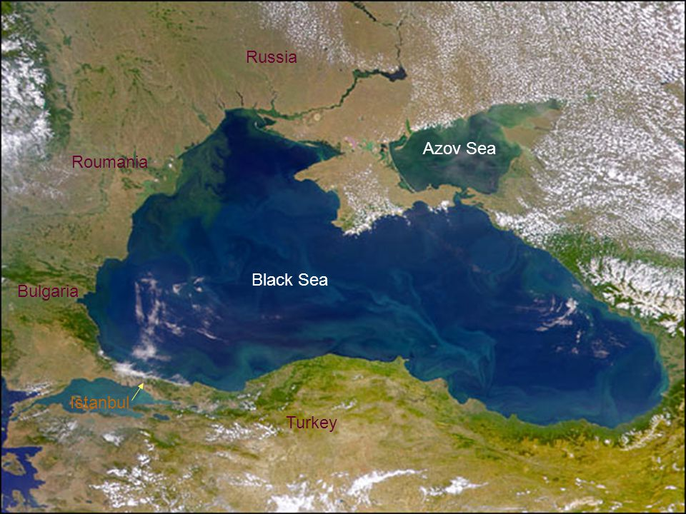 Russia Azov Sea Roumania Black Sea Bulgaria Istanbul Turkey