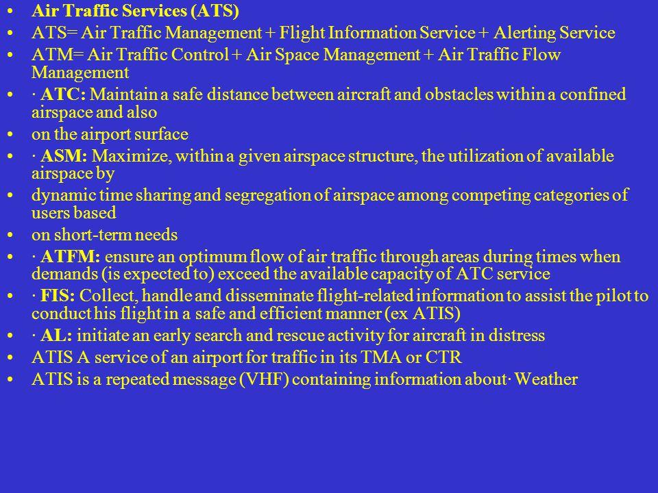 Air Traffic Services (ATS)
