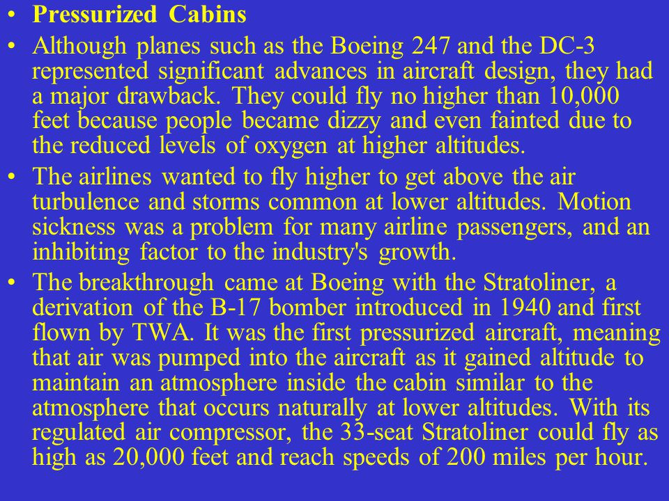 Pressurized Cabins