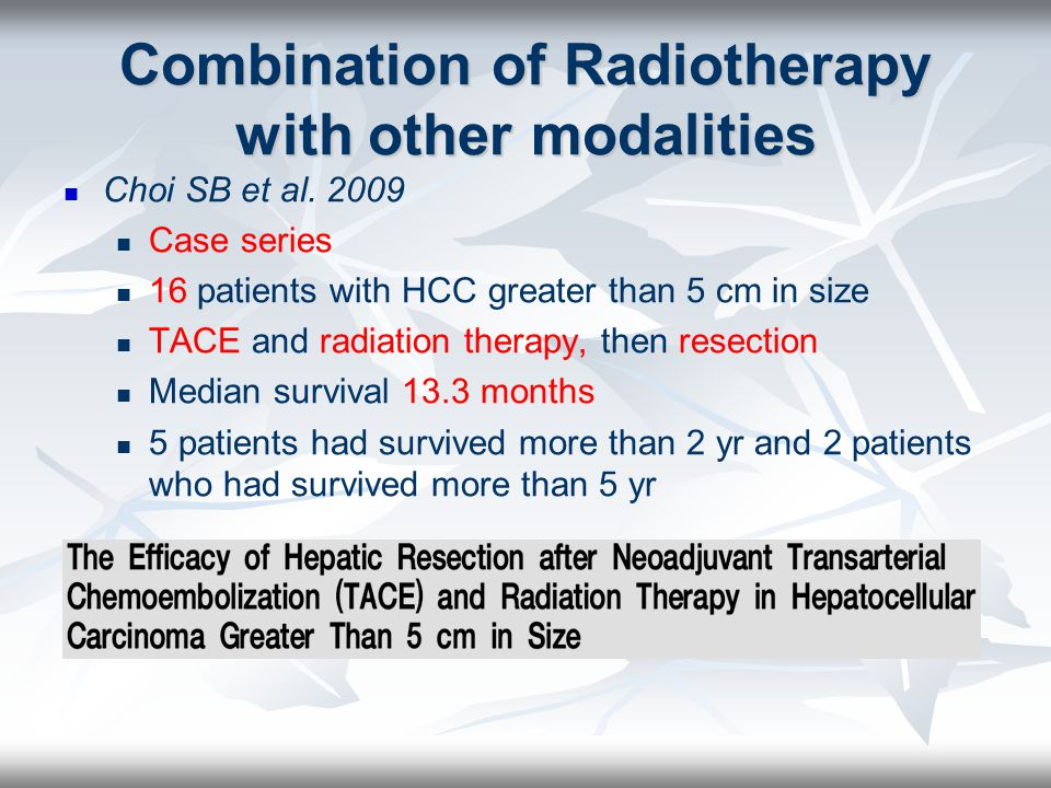 Combination of Radiotherapy with other modalities