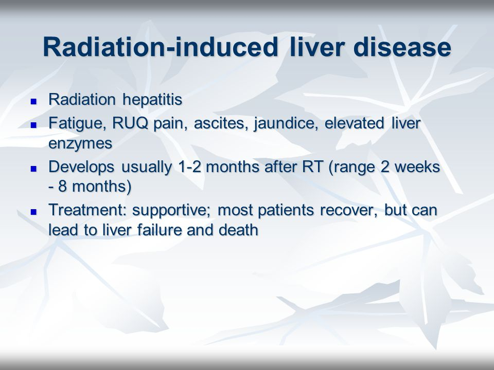 Radiation-induced liver disease