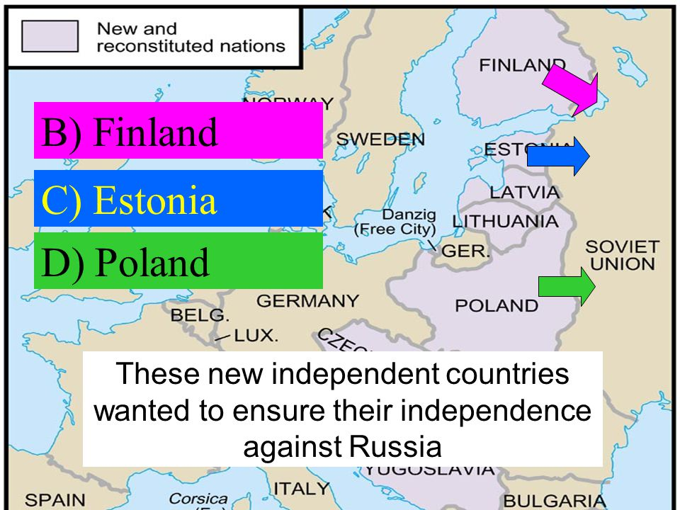 B) Finland C) Estonia D) Poland