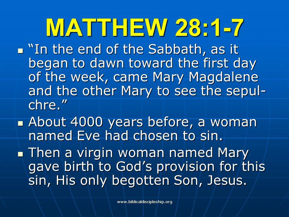 MATTHEW 28:1-7