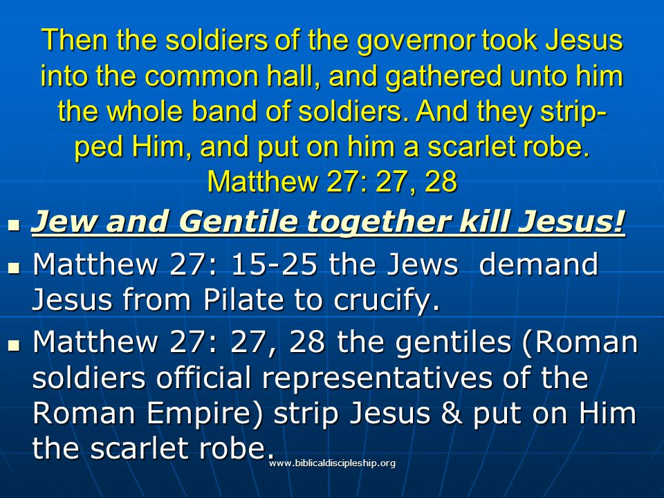 Jew and Gentile together kill Jesus!