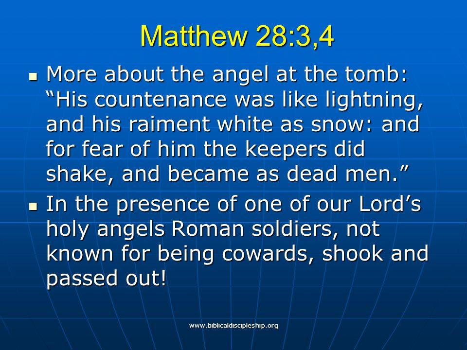 Matthew 28:3,4