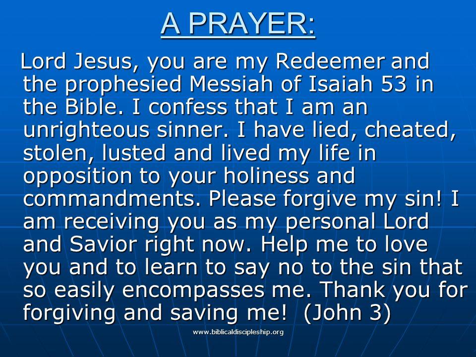 A PRAYER: