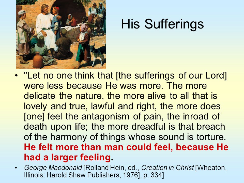 His Sufferings