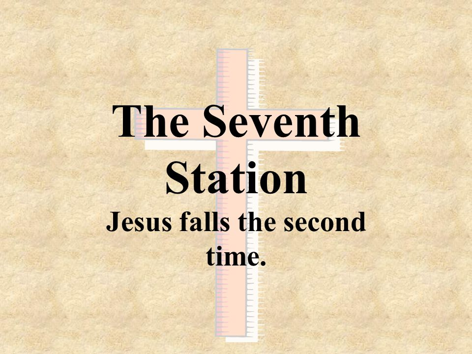 Jesus falls the second time.