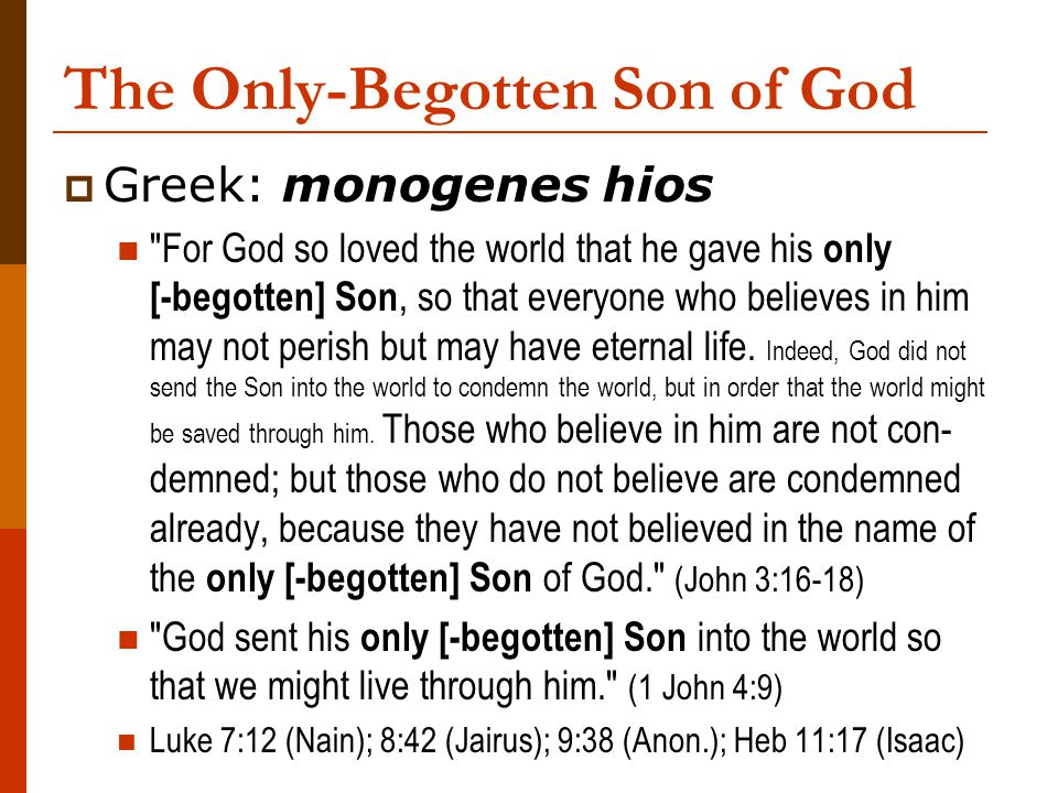 The Only-Begotten Son of God