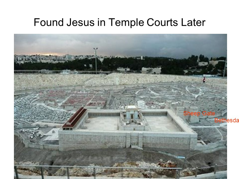 Found Jesus in Temple Courts Later
