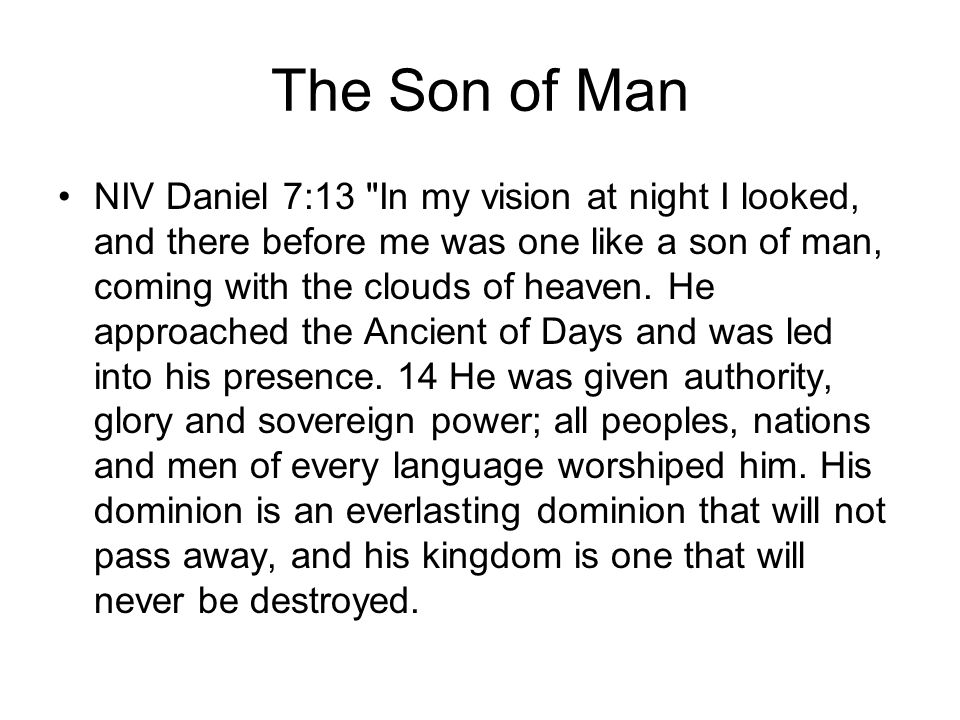 The Son of Man