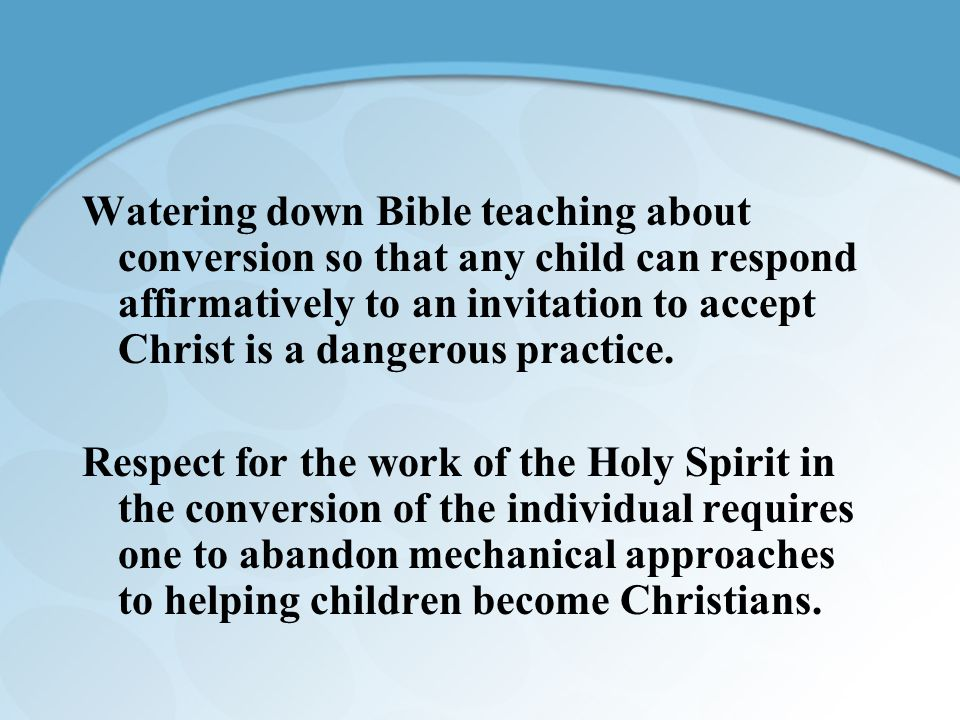 The ABCs of Leading a Child to Christ