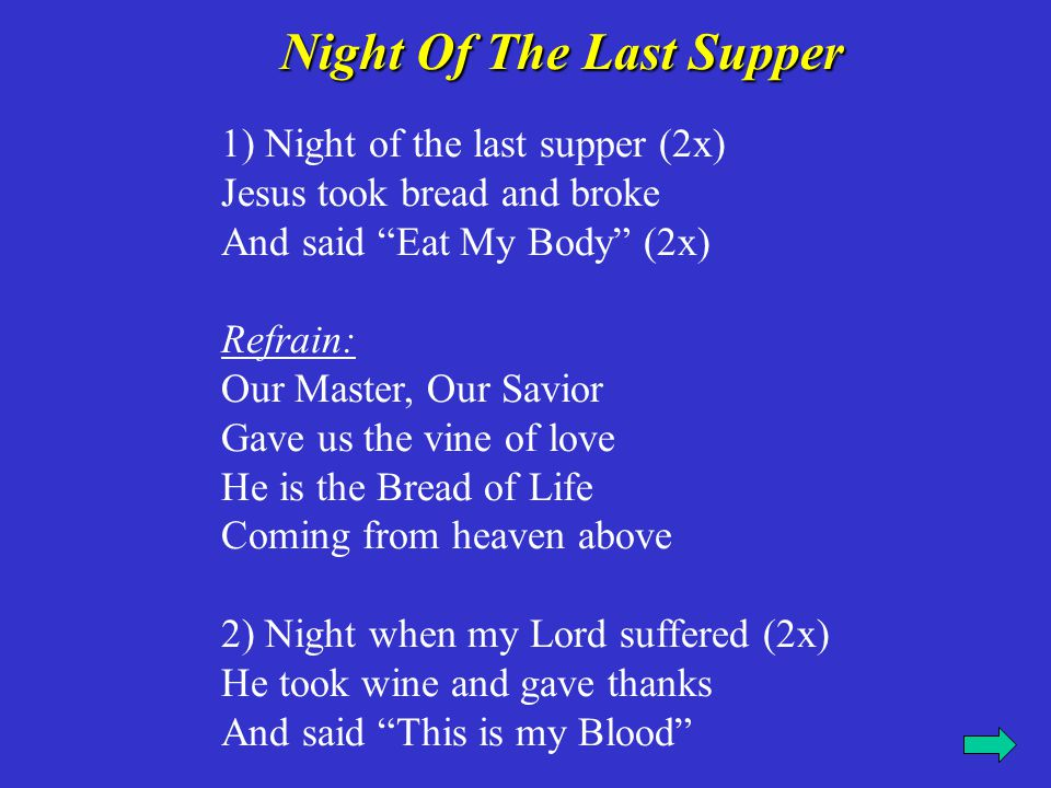 Night Of The Last Supper
