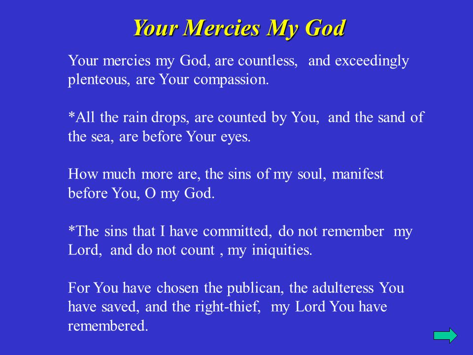 Your Mercies My God