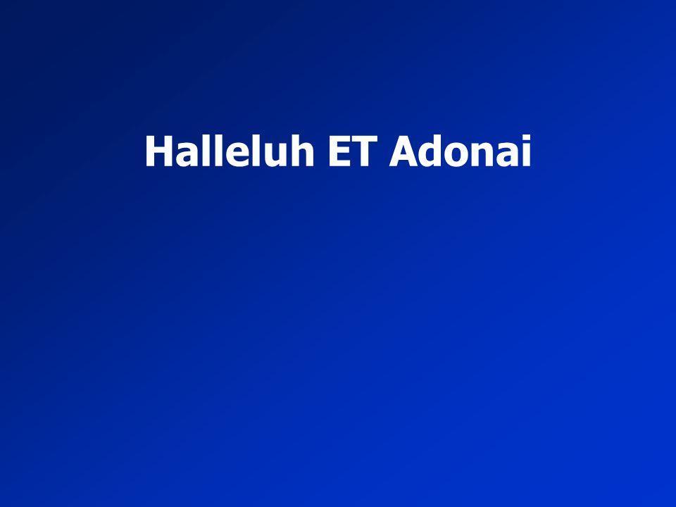 Halleluh ET Adonai