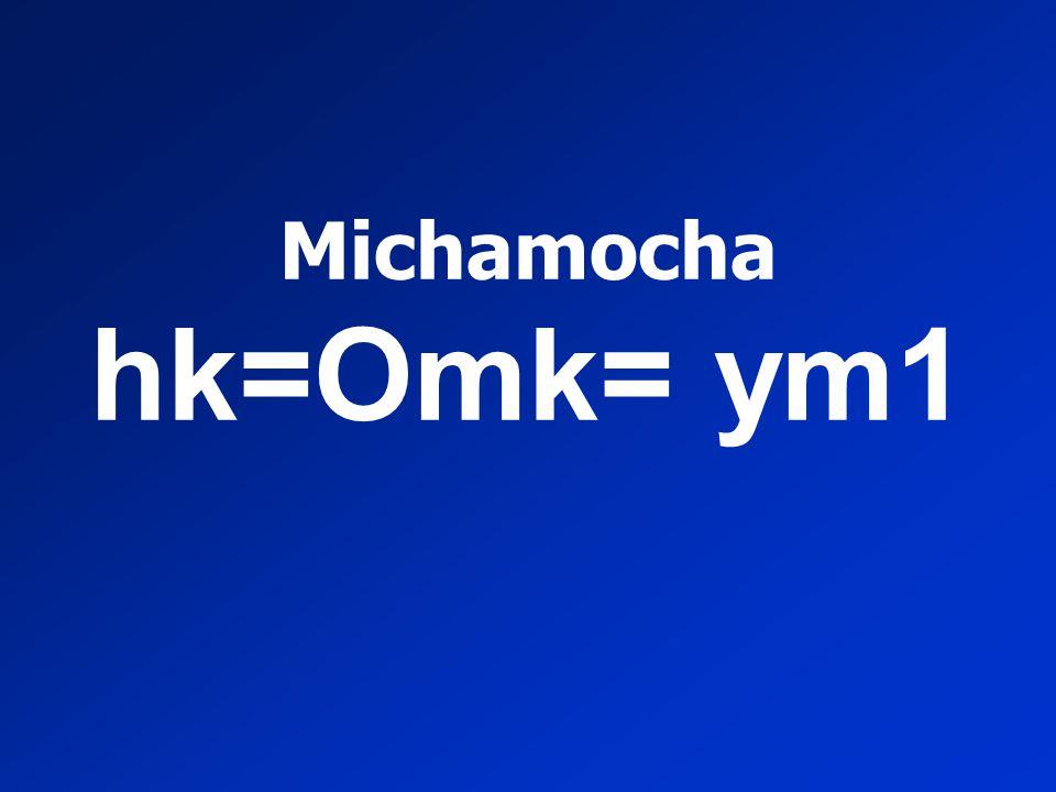 Michamocha hk=Omk= ym1