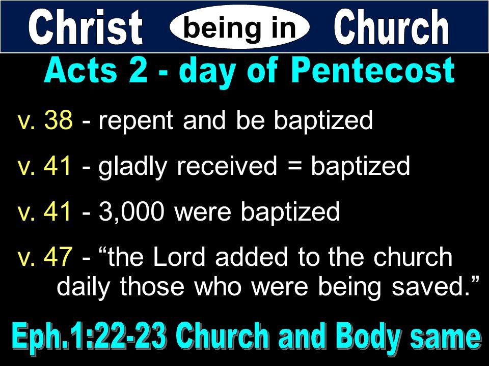 Eph.1:22-23 Church and Body same