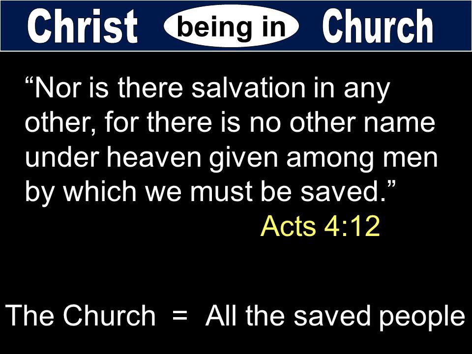 being in Christ. Church.
