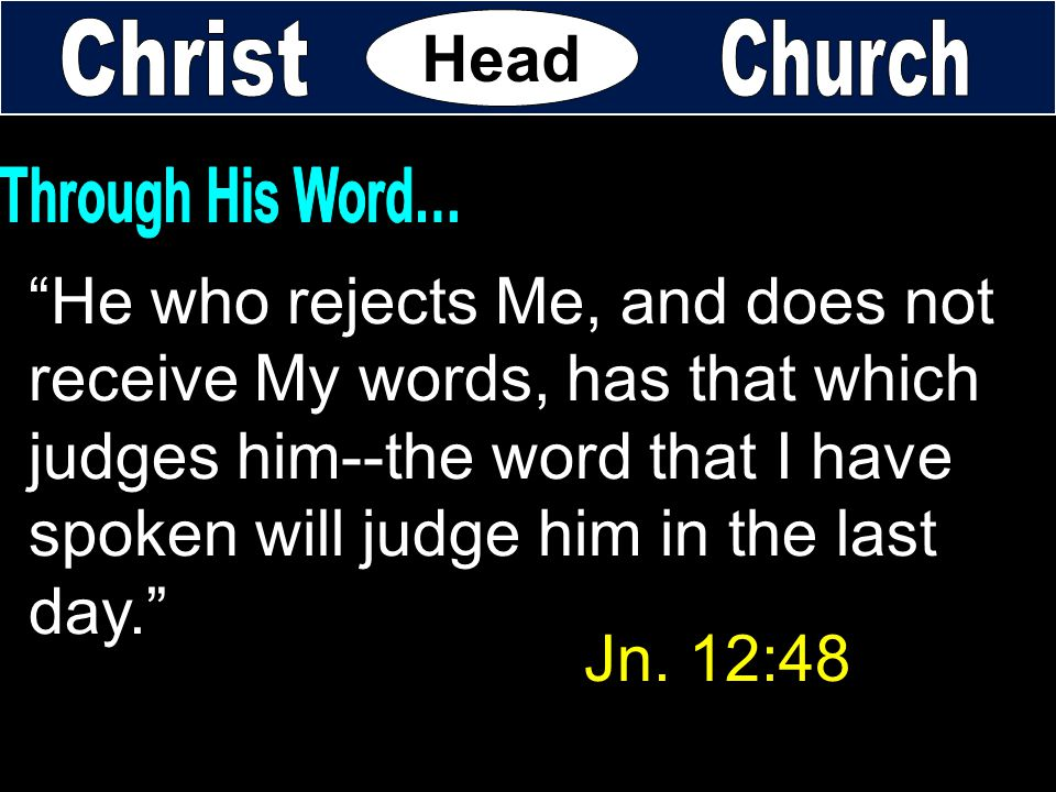 He who rejects Me, and does not receive My words, has that which
