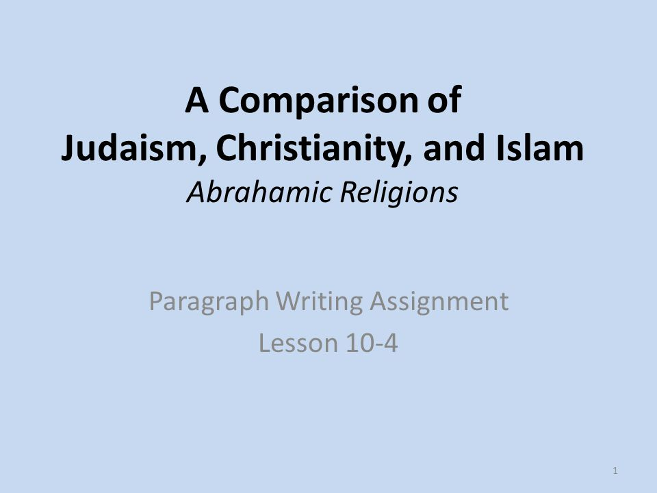 similarities between christianity and islam and judaism