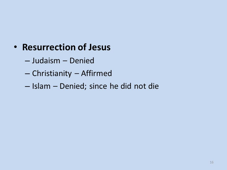 Resurrection of Jesus Judaism – Denied Christianity – Affirmed