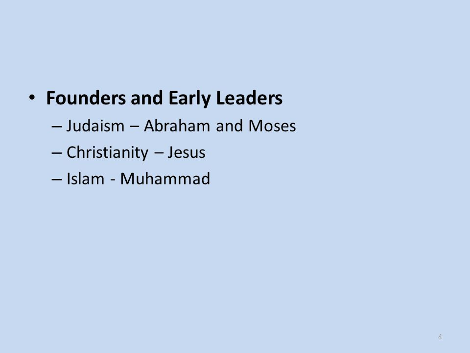 Founders and Early Leaders