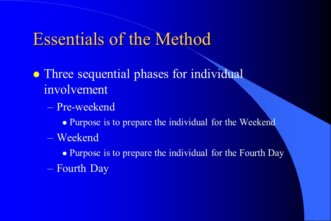 Essentials of the Method