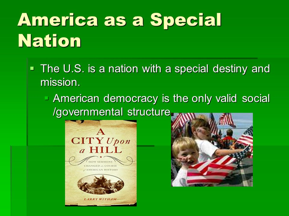 America as a Special Nation