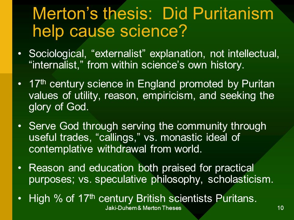 the merton thesis Merton's answer to this question is perhaps his single most important contribution to the anomie tradition merton presents an analytical typology,.