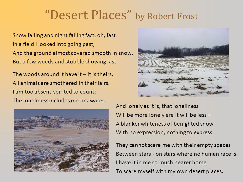 Desert Places by Robert Frost