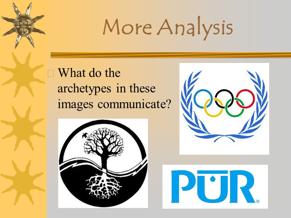More Analysis What do the archetypes in these images communicate
