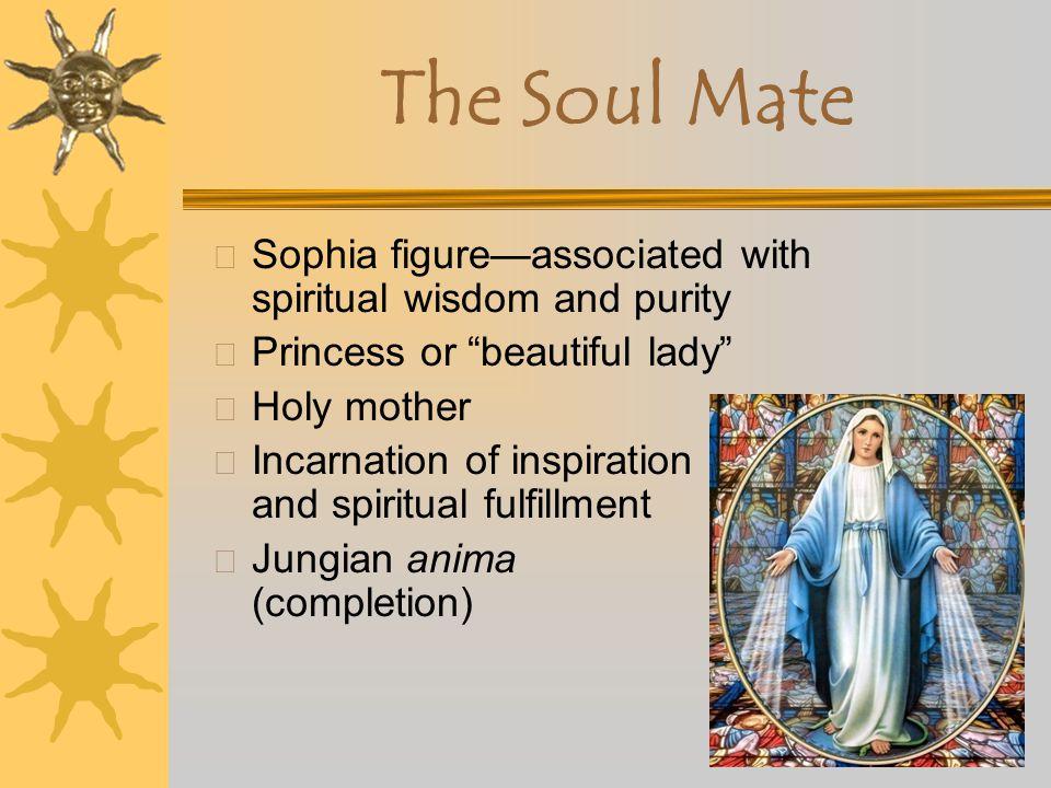 The Soul Mate Sophia figure—associated with spiritual wisdom and purity. Princess or beautiful lady