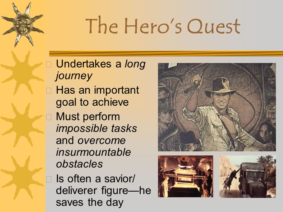 The Hero's Quest Undertakes a long journey