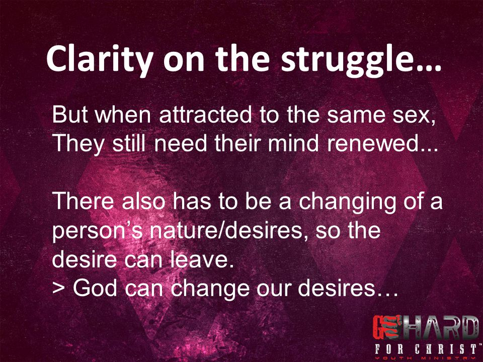 Clarity on the struggle…