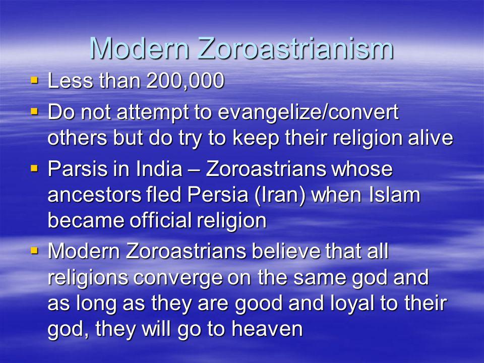 Modern Zoroastrianism