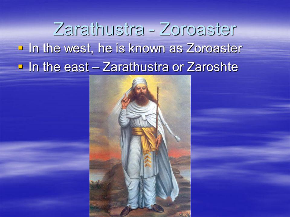 Zarathustra - Zoroaster