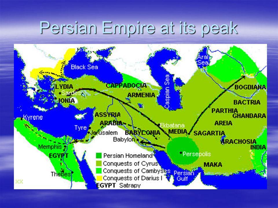 Persian Empire at its peak