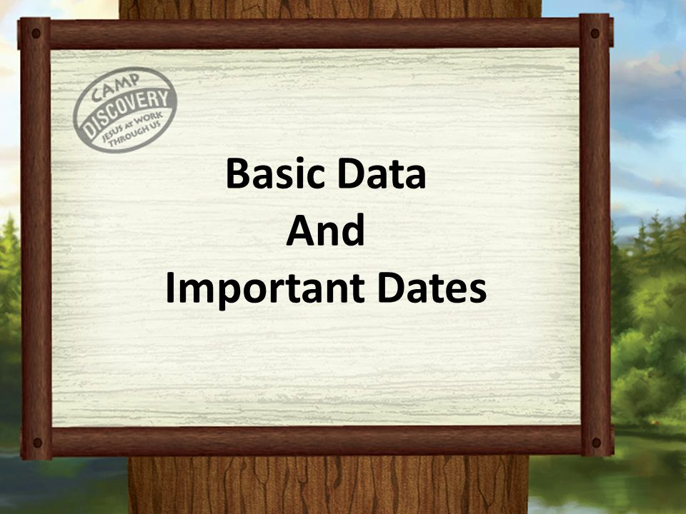 Basic Data And Important Dates