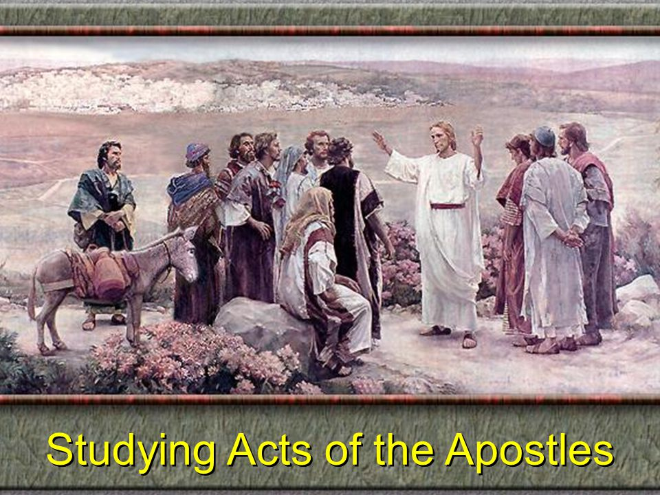 Studying Acts of the Apostles