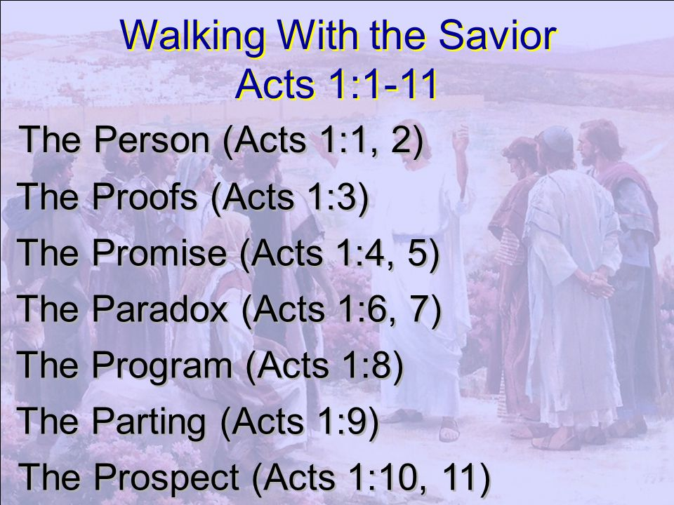 Walking With the Savior