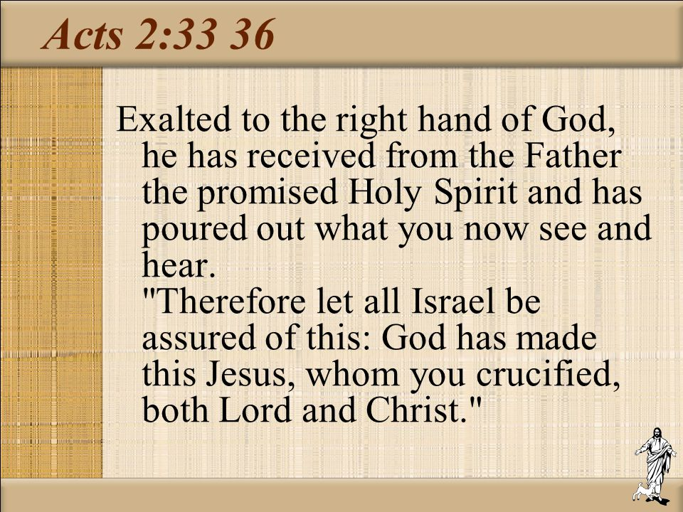Acts 2:33 36