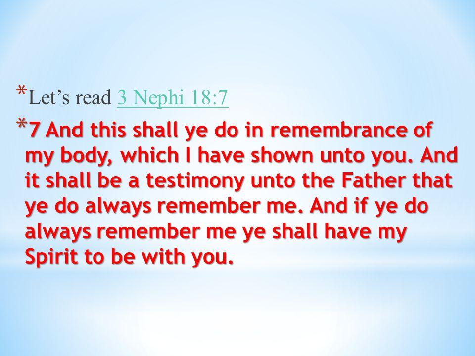 Let's read 3 Nephi 18:7