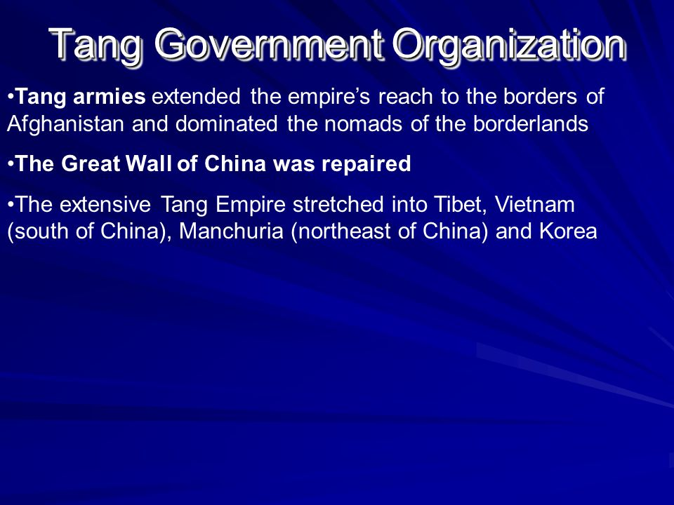 Tang Government Organization