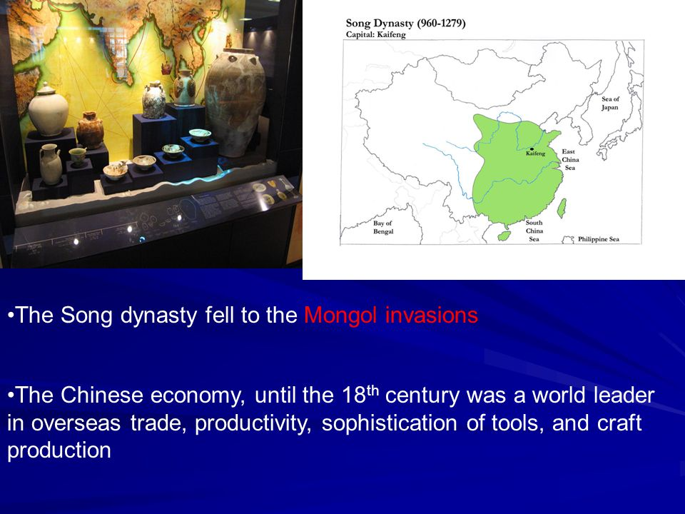 The Song dynasty fell to the Mongol invasions