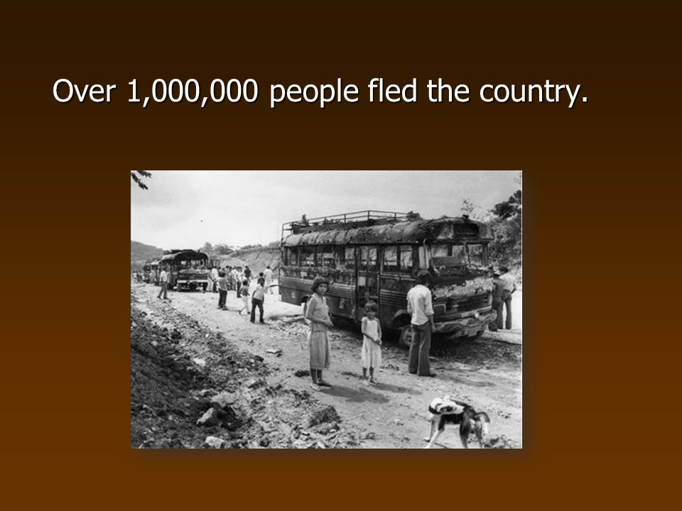 Over 1,000,000 people fled the country.