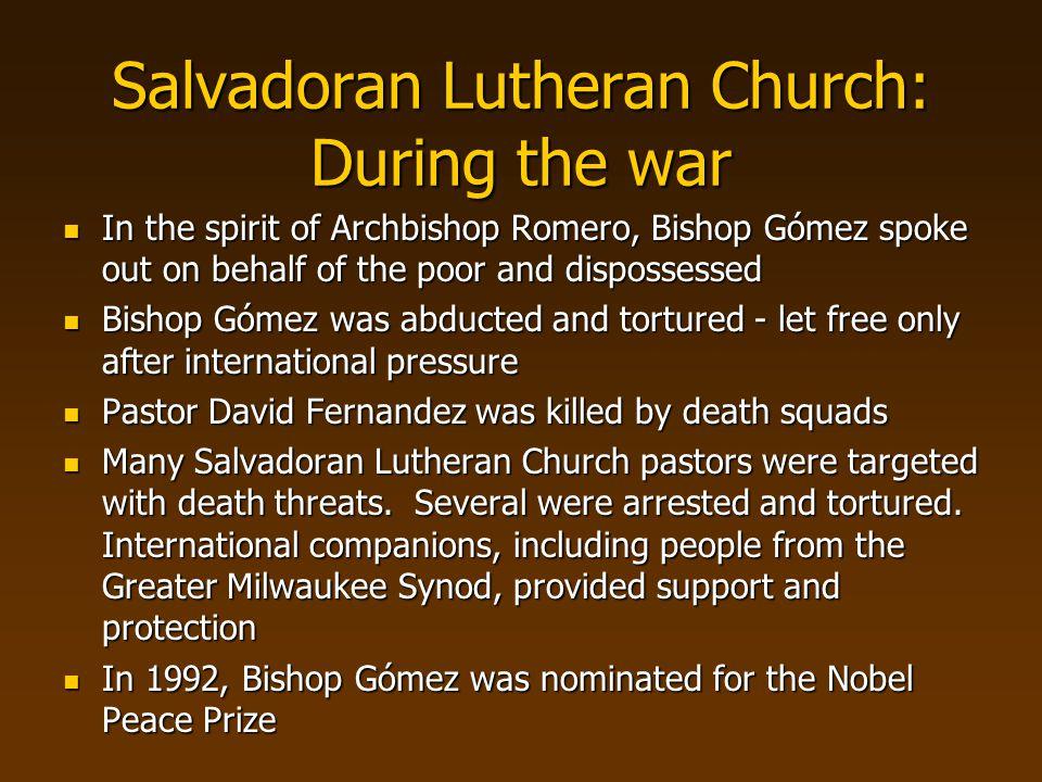 Salvadoran Lutheran Church: During the war