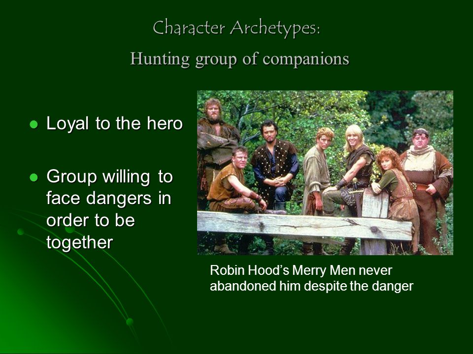 Character Archetypes: Hunting group of companions